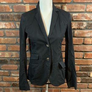 Theory 2-Button Cotton Blend Career Blazer Jacket